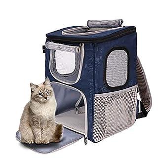 HAIMEI-WU Haustier-Tragetasche für Hunde und Katzen, atmungsaktiv, offen, Notfall-Evakuation, Troika-Farben