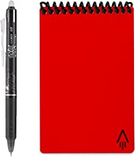 "Rocketbook Everlast Mini Notizbuch, wiederverwendbar, klein 3.5"" x 5.5"" Atomic Red"