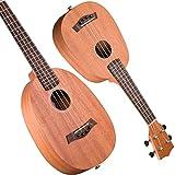 LINGZHIGAN 27 Zoll 30 Zoll Mahagoni Ukulele Kleine Gitarre Ananas Typ In Einem Abschluss Geschenk Anfänger (Size : 27 Inch)