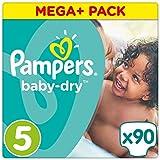 Pampers Baby-Dry Windeln, Gr. 5 (11-23kg), Mega Plus, 1er Pack (1 x 90 Stück)