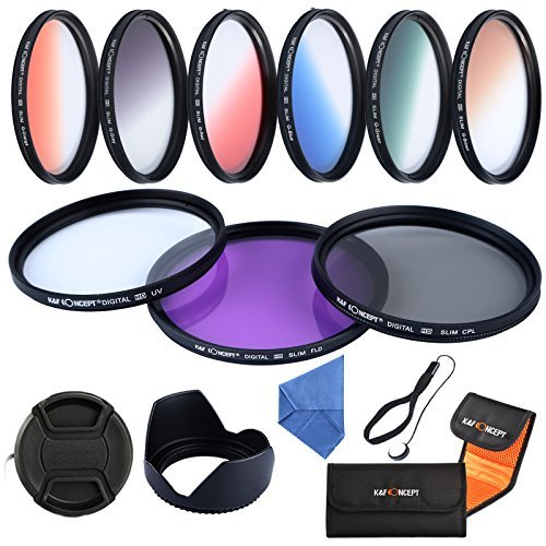 K&F Concept Slim Objektiv Filter Set 58mm UV CPL FLD 9 teiliges