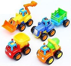 KAGVAD Unbreakable Plastic Automotive Building & Construction Toys - Set of 4