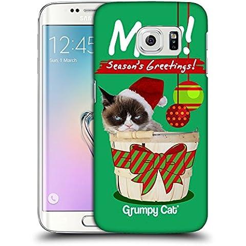 Ufficiale Grumpy Cat Saluti Natalizi Natale Cover Retro Rigida per Samsung Galaxy S6 edge - Saluto Edge Design