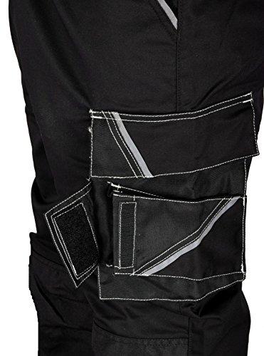 Iwea Stabile Arbeitshose Bundhose Berufshose Handwerker Cargohose Arbeitskleidung Grau IW063 (52/54 (L), Schwarz) - 2
