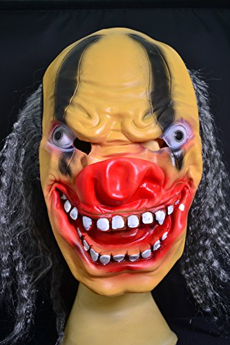 Smartfox Halloween Latex Maske - Böser Clown (Halloween Böser Clown)
