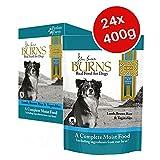 Burns Penlan Farm Range Nassfutterbeutel für Erwachsene, für Lamm-, Reis- und Gemüse, 400 g, 24 Stück