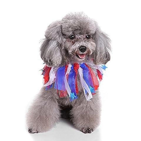 Mml mignon de Noël Animal de compagnie Collier de chien couleur étoile Vêtements Colliers Rouge, PVC, multicolore, Taille L