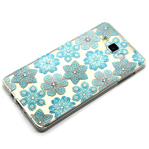 Skitic Coque Bling Strass Cristal 3D Relief Printing Diamond Housse Cover for iPhone 6 / iPhone 6S, Ultra Mince Light Housse de Protection Case Coque Etui Cover Flexible Soft TPU Silicone Clair Transp Style 3
