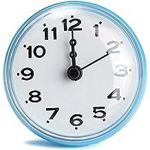 king do way horloge etanche avec ventouse pour salle de bain douche cuisine waterproof shower clock - Pendule Salle De Bain