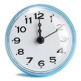 KING DO WAY Horloge Etanche Avec Ventouse Pour Salle De Bain Douche Cuisine Waterproof Shower Clock Bleu 7cm