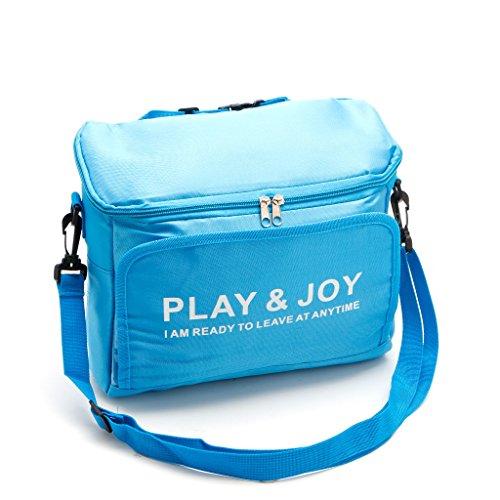 slylive Picknick Taschen für Frauen, solide Farbe großen Oxford Tuch Lunchpaket für Mädchen m blau (Tasche Solide Große)