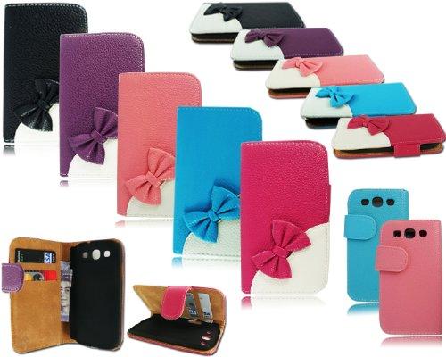 Kitty Schleife Flip Wallet Tasche Schutzhülle für Samsung Galaxy S3I9300