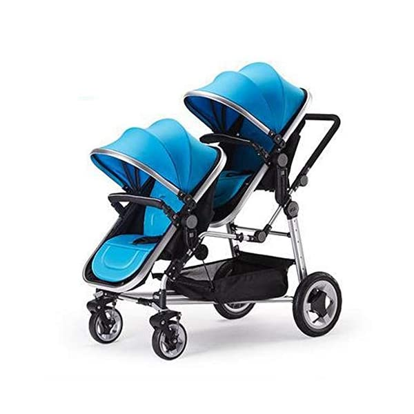 ZhiGe Pushchair High-Landscape Twin Baby Stroller can be Lying in one car Stroller 46 * 84 * 105cm ZhiGe Light city stroller Ideal for a daily life with bus or train Compact folding size 1