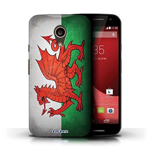 Kobalt® Imprimé Etui / Coque pour Motorola Moto G (2014) / Ghana conception / Série Drapeau Pays de Galles/gallois
