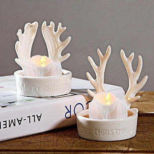 niceEshop(TM) 12pcs Realista y Luminosa Lámpara Sin Llama Accionada por Batería Luz de T?Parpadeante LED con Remoto, Amarillo Cálido