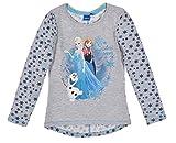 Frozen Langarmshirt Mädchen Ökotex Standard 100 ELSA (128, Grau)