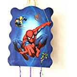 Pinata Spiderman/Pinata Spiderman mask/ Print Pull String Pinata Small for Birthday Party/Party Pinata / Goodies Bag 1 pcs