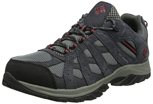 Columbia CANYON POINT WATERPROOF, Scarpe da trekking da uomo Impermeabili Grigio (Charcoal/Red Element), 42.5 EU