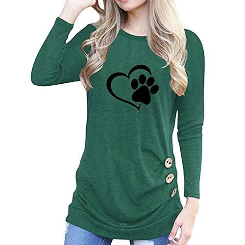 842c031e2aec75 Top a maniche lunghe per donna Camicetta T-Shirt con larghe Donna T Shirt  Blusa Maglietta Maniche Lunghe Elegante Tunica modo allentata della manica  lunga ...