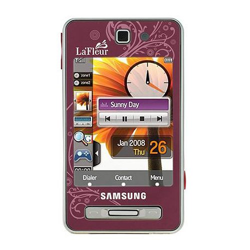 Samsung SGH-F480 Smartphone (Touchscreen, 5MP Kamera, UMTS, HSDPA) Scarlet Red La Fleur Edition -