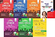 Olympiad Champs Science, Mathematics, English, Logical Reasoning, Cyber & GK Class 2 with 28 Mock Tests (s
