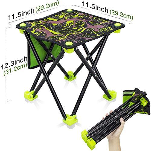 Aiwoxing Klappbarer Hocker Tragbarer Outdoor Stühle Kompakter Faltbar Camping AngelStuhl