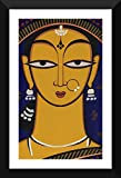 Tallenge - Indian Art - Jamini Roy - Handmaiden - Ready To Hang Framed A3 Size Poster (12x17 inches)