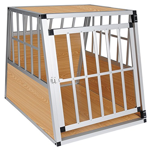 EUGAD Hundebox Transportbox Hundetransportbox Aluminium 1 Türig Reisebox Gitterbox Box 0049HT
