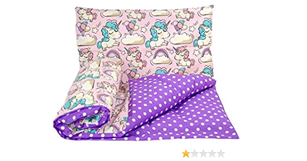Babys Comfort Parure de lit r/éversible 2 pi/èces pour b/éb/é Housse de couette 70 x 80 cm pour berceau//landau//couffin, 27 taie doreiller