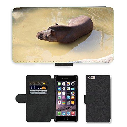 Just Mobile pour Hot Style Téléphone portable étui portefeuille en cuir PU avec fente pour carte//m00139494tayassuidae Animal Zoo//Apple iPhone 6Plus 14cm