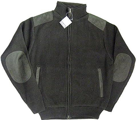 Waidmann elutex veste en tricot schulterbesatz olive-taille 54/56
