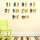 Rabhya International 1,2,3,4 Number Kids Wall Sticker(PVC Vinyl,60cm X110cm) By Paper Plane Design