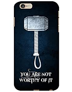 iPhone 6 Plus / 6S Plus Cases & Covers - Thor Hammer Case by myPhoneMate - Designer Printed Hard Matte Case - Protects from Scratch and Bumps & Drops.