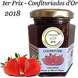 Maison Fouquet, Confiture de Fraises, 1 pot de 220g, 1er prix au championnat du monde 2018