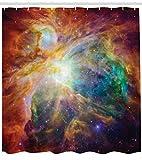 Abakuhaus Duschvorhang, Mehrfarbig Weltraum Nebulapartikeln Sternhaufen im Kosmos Universum Galaxie Energievoll Bewegend, Wasser und Blickdicht aus Stoff mit 12 Ringen Schimmel Resistent, 175 X 200 cm