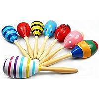 Toruiwa Sonajero Madera Martillo de Arena de Dibujos Animados Instrumentos Musicales para niños Juguetes Madera Bebe Juguete Musical Estilo Aleatorio 23cm