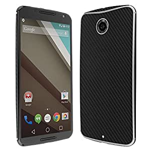 Skinomi® TechSkin - Google Nexus 6 Screen Protector + Carbon Fiber Full Body Skin Protector with Free Lifetime Replacement Warranty / Front & Back Wrap / Premium HD Clear Film / Ultra High Definition Invisible and Anti-Bubble Crystal Shield - Retail Packaging
