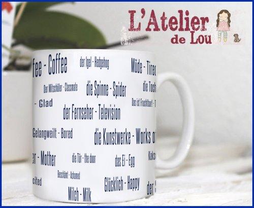 Eine neue Sprache lernen! Deutsch - Englisch Kaffeetassen - Originelle Gechenkidee - Spülmachinenfest