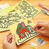 UChic 10 STÜCKE 28x20 CM / 11,2 '' x 8 '' Kinder Kinder Zeichnung Spielzeug Sand Malerei Bilder Kind DIY Handwerk Bildung Spielzeug Für Jungen Und Mädchen Stil zufällig