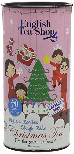 English Tea Shop X'mas for Young@Heart Rooibos Sleigh Ride Round Tea Bags (Pack of 3, Total 120 Tea Bags)