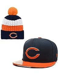 Lorh's store Berretto Piatto e Berretto Sportivo Regolabile Unisex per Adulti della NFL Football Americano (Chicago Bears)
