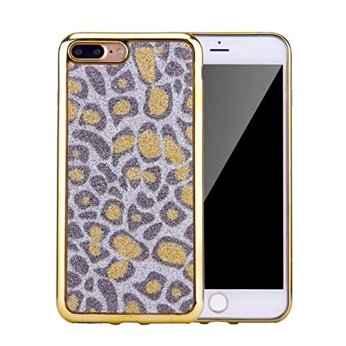 Meres Gold Edge iPhone 5 5s SE Case, Bling Glitter Ultra-Thin Electroplating Technology Soft Gel TPU Case - Or gloden
