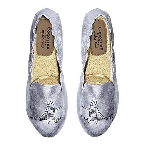 Cocorose London Scarpe Pieghevoli - Carnaby Scarpe da Ballet Donna Tower Bridge