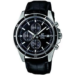 Casio Herren-Armbanduhr XL Chronograph Quarz Leder EFR-526L-1AVUEF