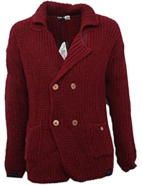 B3449 cardigan uomo OUTFIT ITALY giacca maglione bordeaux sweater man