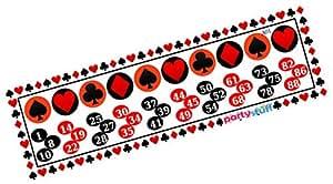 Party Stuff Playing Cards Theme Tambola Housie Tickets - Playing Cards kukuba 13 - Designer Kukuba (16 Cards)   Kitty Games