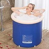 LONGLAN Vasca da Bagno Portatile PVC Vasca da Bagno Gonfiabile Calda Sauna per Adulti Vasca da Bagno a Vapore Barile da Bagno Pieghevole Gonfiabile Vasca di Grandi