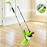 3-in-1 Cleaning Kit Includes Spray Mop, Window Cleaner and Auto Hand Push Sweeper