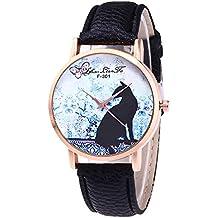 Reloj Moda para Mujer Pulsera del Reloj Metal Durable Brazalete de Reloj  Bonito Cadena de Cuero 420e1de4527