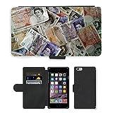 PU Leder Wallet Case Folio Schutzhülle // M00154398 Geld-Währung Finanzen Reichtum // Apple iPhone 6 4.7